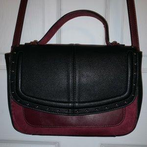 Express crossbody bag, Maroon and black